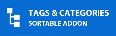 Tags & Categories Filter Sortable Addon Logo
