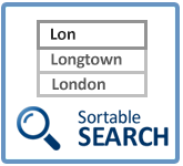 Sortable Search